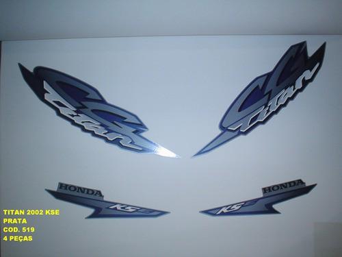 Kit De Adesivos Cg 125 Titan Kse 02 - Moto Cor Prata - 519