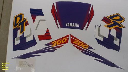 Kit De Adesivos Dt 200 97 - Moto Cor Azul (417 - Adesivos)