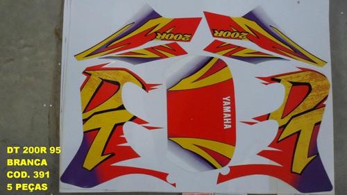 Kit De Adesivos Dt 200r 95 - Moto Cor Branca 391