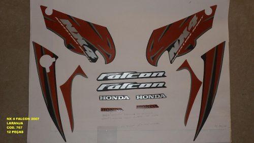 Kit De Adesivos Nx 400 Falcon 07 - Moto Cor Laranja - 767