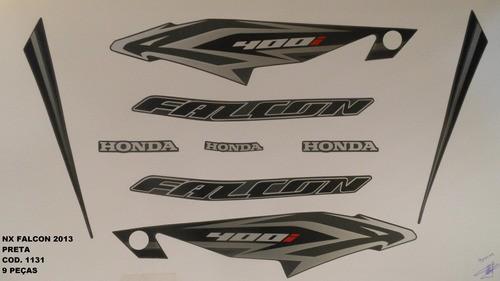 Kit De Adesivos Nx 400 Falcon 13 - Moto Cor Preta - 1131