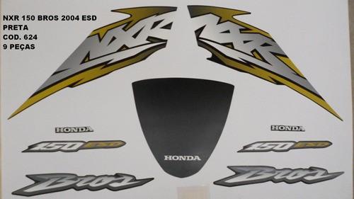 Kit De Adesivos Nxr 150 Bros 04 - Moto Cor Preta - 624
