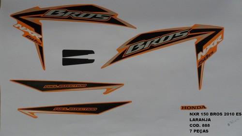 Kit De Adesivos Nxr 150 Bros Es 10 - Moto Cor Laranja - 888