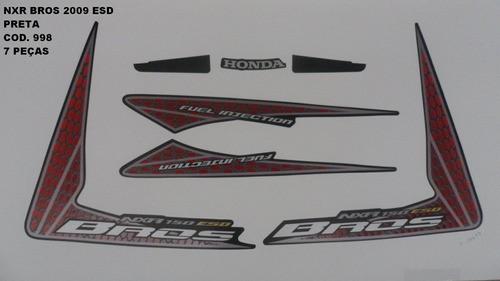 Kit De Adesivos Nxr 150 Bros Esd 09 - Moto Cor Preta - 998