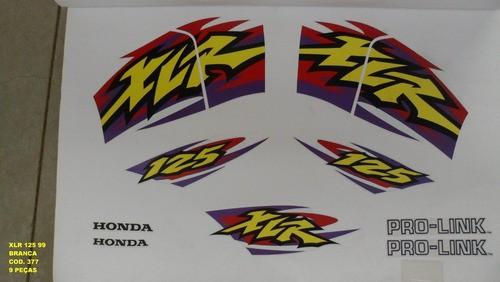 Kit De Adesivos Xlr 125 99 - Moto Cor Branca 377