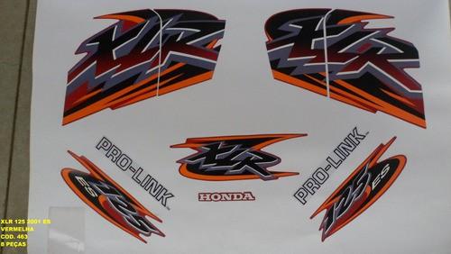 Kit De Adesivos Xlr 125 Es 01 - Moto Cor Vermelha - 463