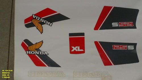 Kit De Adesivos Xls 125 85 - Moto Cor Branca - 99