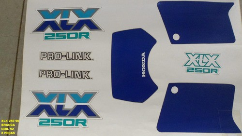 Kit De Adesivos Xlx 250 90 - Moto Cor Branca (92 - Adesivos)