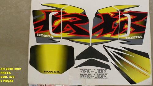 Kit De Adesivos Xr 200 01 - Moto Cor Preta (470 - Adesivos)