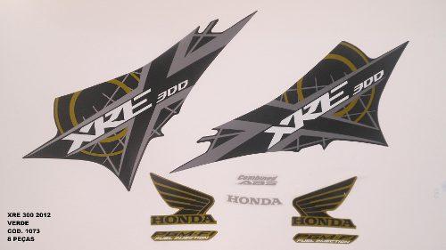 Kit De Adesivos Xre 300 12 - Moto Cor Verde 1073