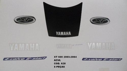 Kit De Adesivos Xt 600 03/04 - Moto Cor Azul 628