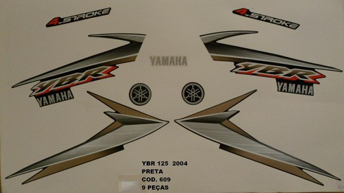 Kit De Adesivos Ybr 125 04 - Moto Cor Preta (609 - Adesivos)