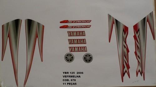 Kit De Adesivos Ybr 125 06 - Moto Cor Vermelha - 678