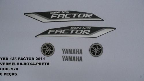 Kit De Adesivos Ybr 125 Factor 11 - Moto Cor Todas - 970