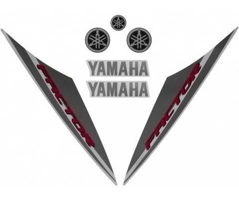 Kit De Adesivos Ybr 125 Factor 14 - Moto Cor Branca - 201