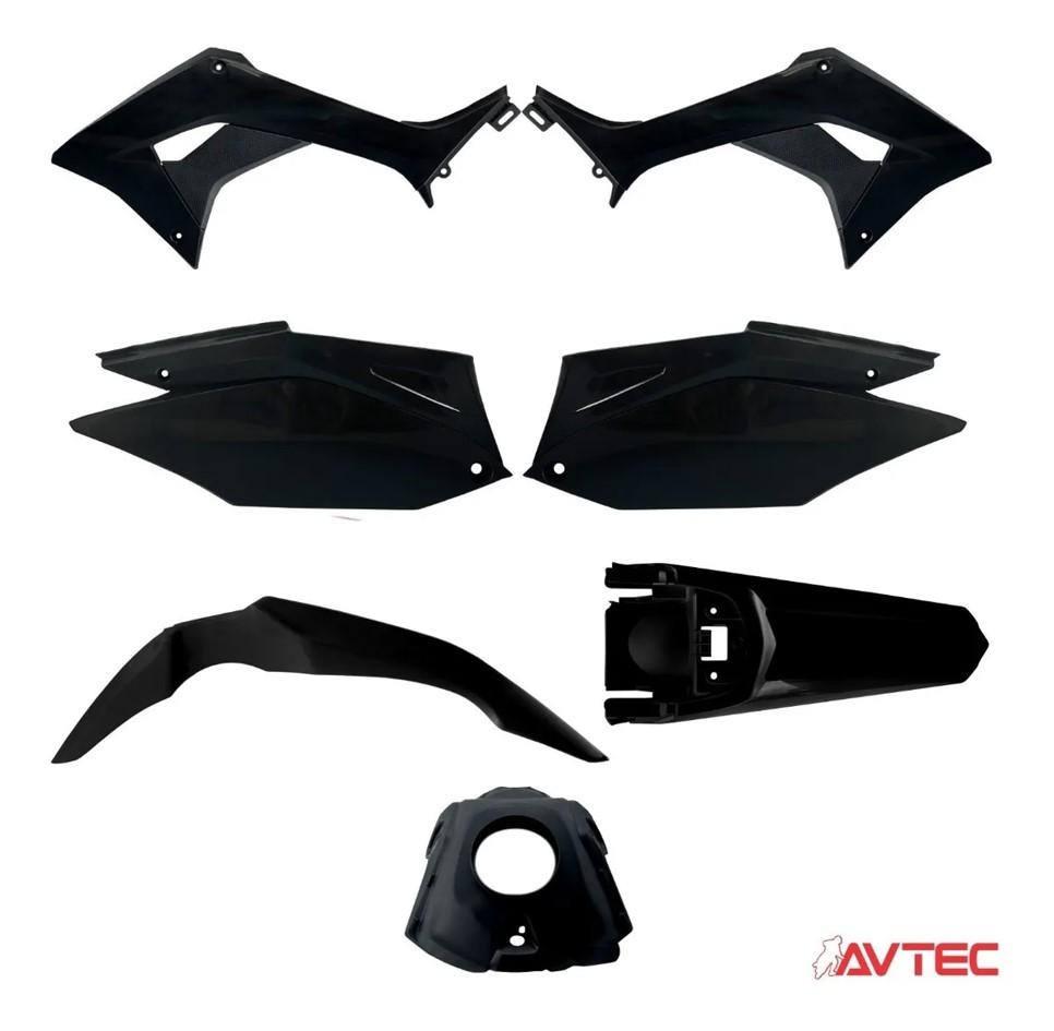 Kit Plastico Carenagem CRF 250F nacional Avtec - Escolha Cor