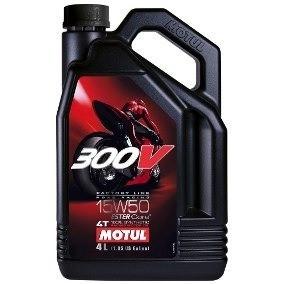 Oleo Para Motor De Moto 4 Tempos 15w50 300v Factory Line 4lt