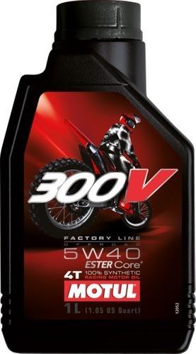 Oleo Para Motor De Moto 4 Tempos 5w40 300v Fact Off-road 1lt