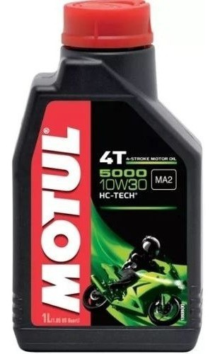 Oleo Para Motor De Moto 4 Tempos Motul 5000 10w30 1 Litro