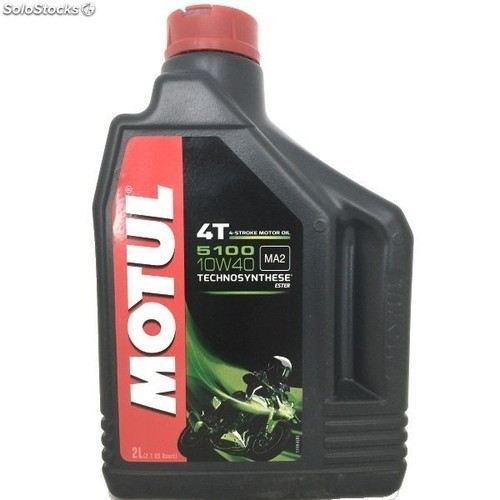 Oleo Para Motor De Moto 4 Tempos Motul 5100 10w40 2 Litros