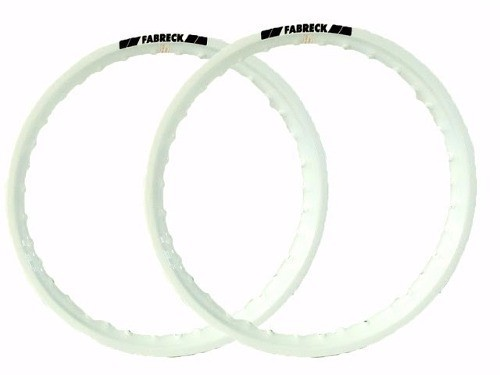 Par Aro Alumínio Branco Titan Fan 125/150 Ybr Factor