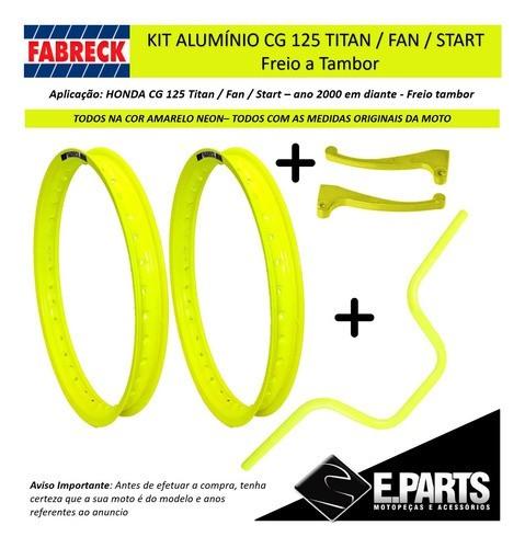 Par Aro Aluminio Cg 125 Titan / 125 Fan + Guidao+manetes Am