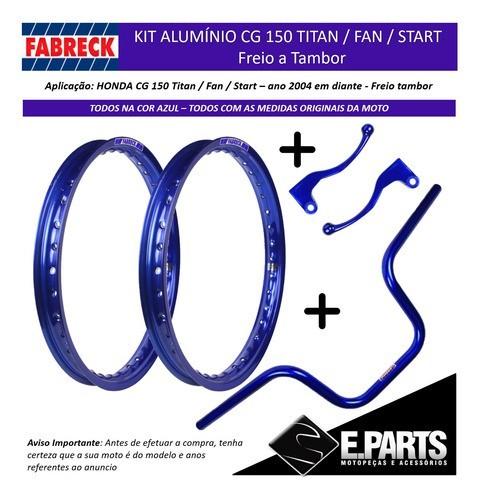 Par Aro Aluminio Cg 150 Titan / 150 Fan + Guidao +manetes Az