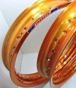 Par Aro Alumínio Laranja Neon Moto Crypton 17x140+17x140