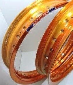 Par Aro Alumínio Laranja Neon Moto Xre 300 21x185+18x215