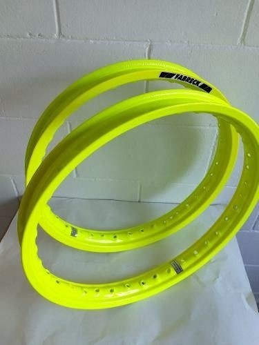 Par Aro Alumínio Laranja Neon Xr 250 Tornado 185x21+250x18