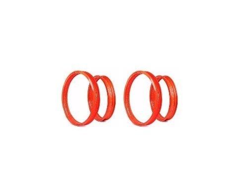 Par Aro Alumínio Moto Tenere 250 Laranja Neon 250x18+185x21