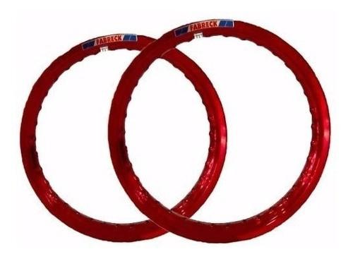 Par Aro Alumínio Vermelho Cg 150 Cargo 18x185+18x215