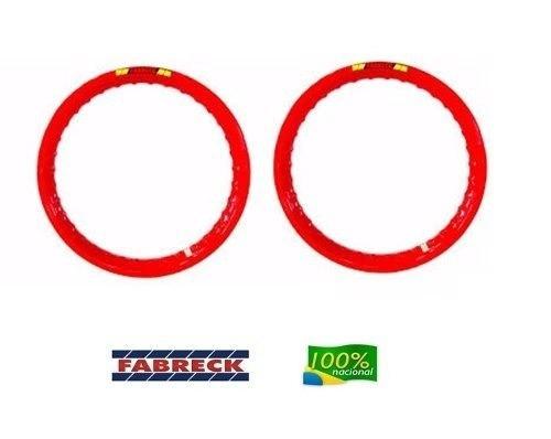 Par Aro Alumínio Vermelho Titan 150 Esd 18x185+18x215