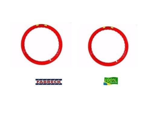 Par Aro Alumínio Vermelho Vitral Moto Dt 180 18x215+21x185
