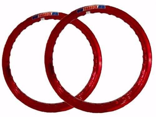Par Aro Alumínio Vermelho Vitral Titan 125 18x160+18x185