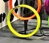 Par Aro De Moto Alumínio Amarelo Neon 18x250+18x250 Fabreck