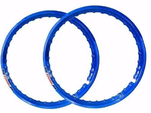 Par Aro Moto Alumínio Cor Azul 150 Medidas 18x160+18x185