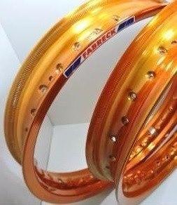 Par Aro Moto Alumínio Cor Cobre Titan150 Med. 18x160+18x185