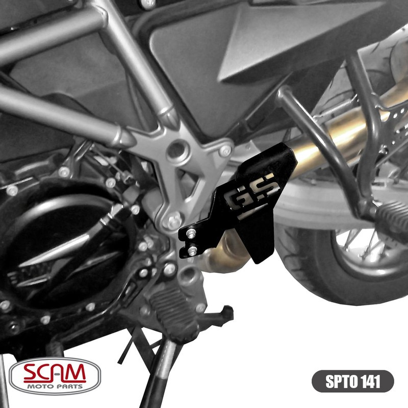 Scam Spto141 Protetor Escapamento Bmw F800gs Adventure 2014+