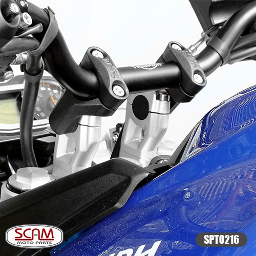 Scam Spto216 Riser Adaptador Guidao Tiger800 2012+ Preto