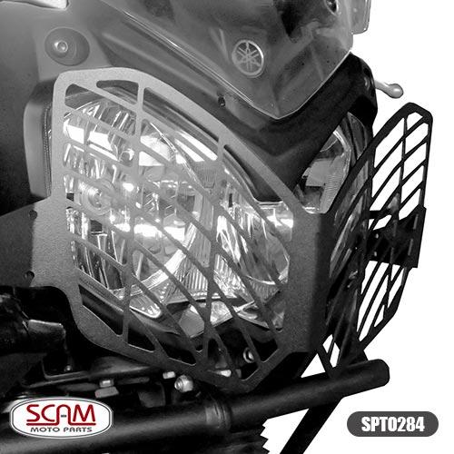 Scam Spto284 Protetor Farol Aço Carbono Tenere250 2011+