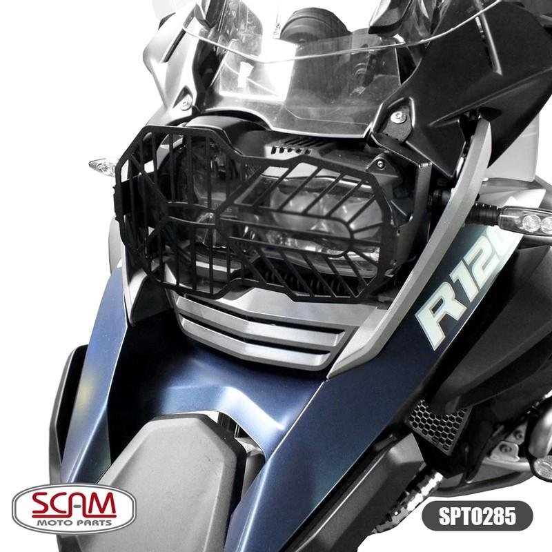 Scam Spto285 Protetor Farol Aço Carbono Bmw R1200gs 2013+