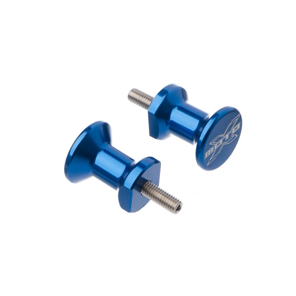 Slider Traseiro Em Aluminio Moto X Yam-r1/r6 Aprillia Azul