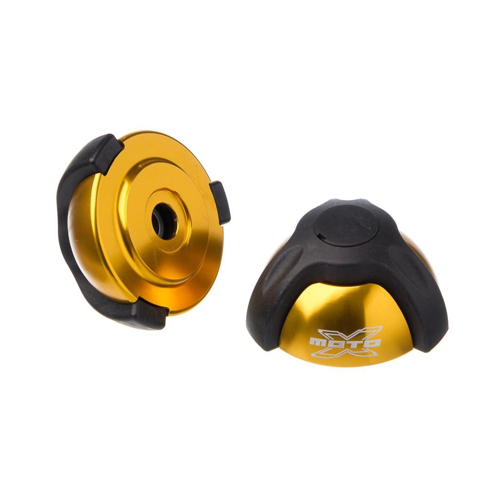Slider Universal - Batente Em Aluminio Moto X 1 Peca Dourado