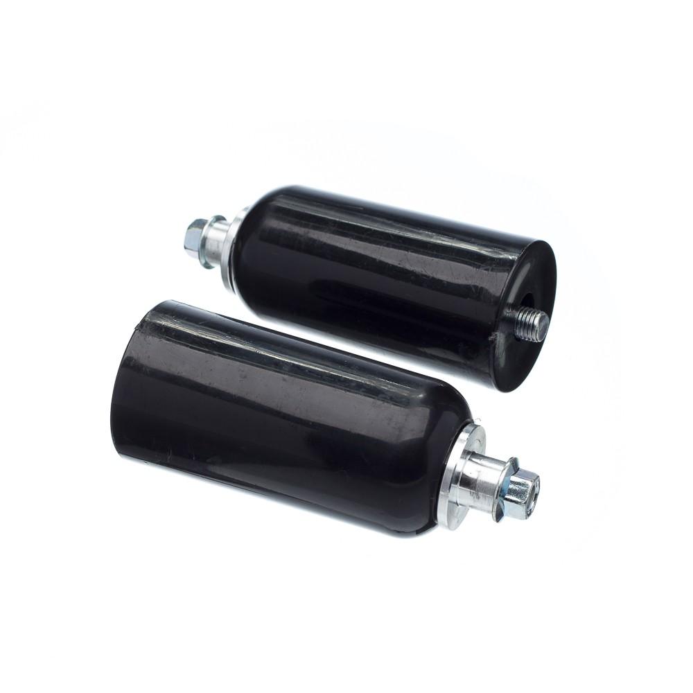 Slider Universal Bering Batente (par) Unicolor Plastic Preto