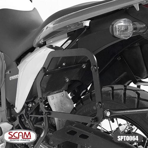 Spto064 Scam Suporte Baú Lateral Honda Transalp700 2011-2014