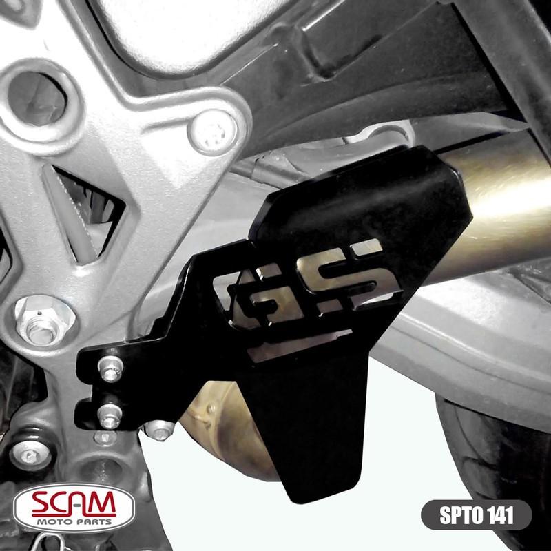 Spto141 Scam Protetor Escapamento Bmw F800gs Adventure 2014+