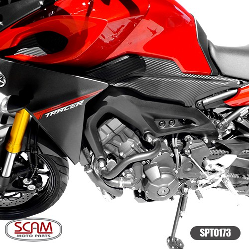 Spto173 Scam Protetor Motor Carenagem Mod. Alça Mt09 Tracer