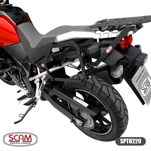Spto229 Scam Suporte Baú Lateral Suzuki V-strom1000 2014+