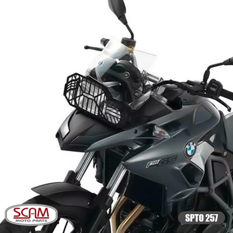 Spto257 Scam Protetor Farol Aço Carbono Bmw F700gs 2017+